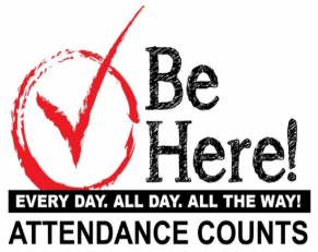 Image with words conveying the importance of attendance